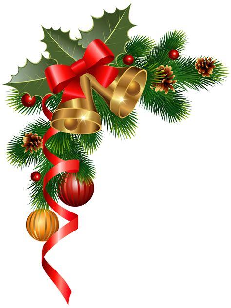 christmas ornaments clipart corner border pencil