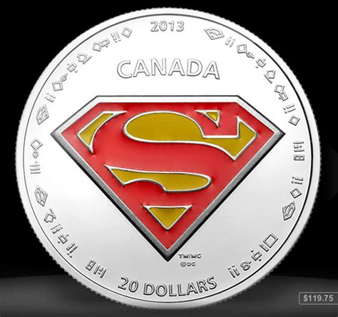 Koin Coin Set Canada Superman Anniversary in canada a set of coins commemorates superman s 75th anniversary designtaxi