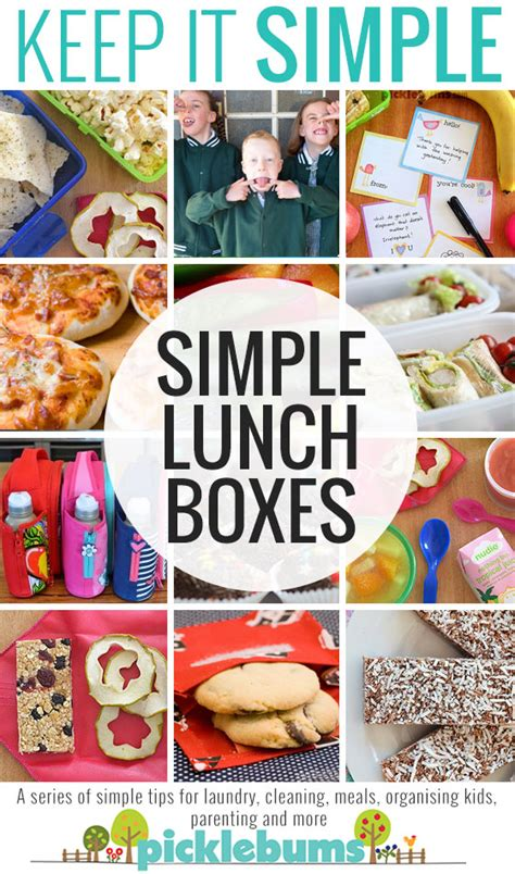 Simple Lunch Box simple lunch box ideas picklebums