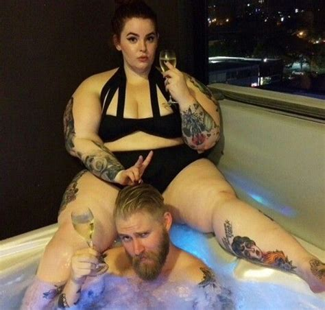 tattoo and hot tub quot hot tub lyfe quot tess holliday nick holliday tess munster