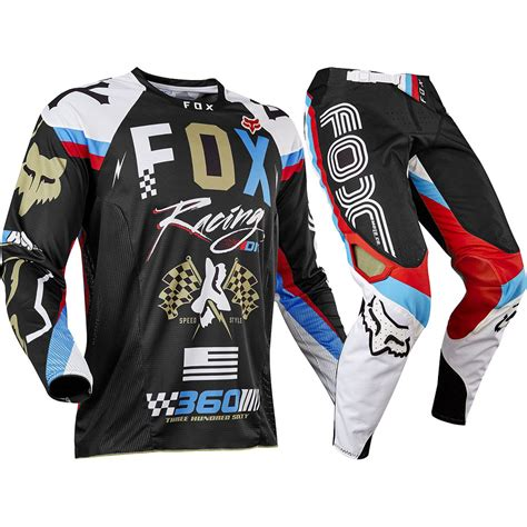 fox motocross gear fox racing 2017 mx 360 rohr black gold jersey