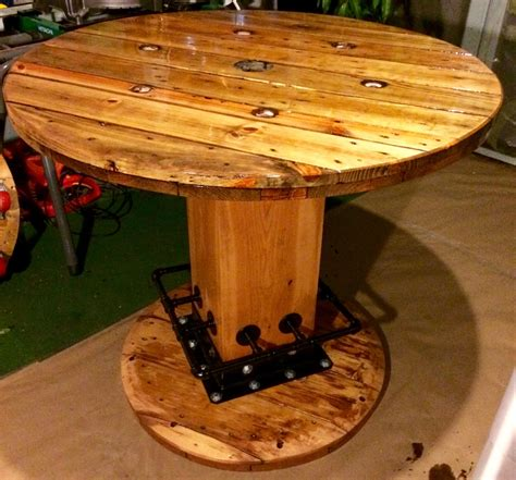 wire spool bench wire spool table high top