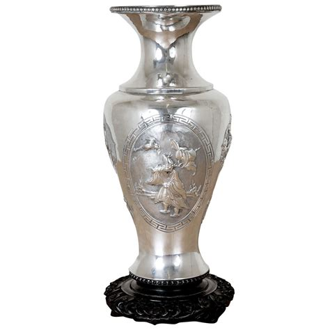 silver vase chinese export silver vase for sale at 1stdibs