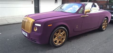 rolls royce gold and white purple velvet and gold rolls royce phantom