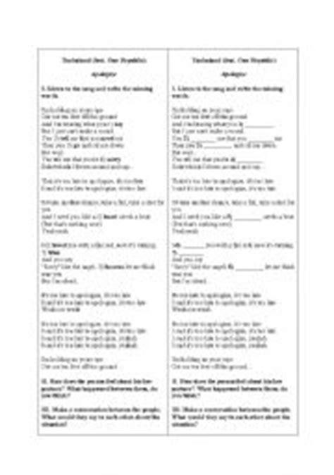 Apology Letter Worksheet Teaching Worksheets Expressing Apologies