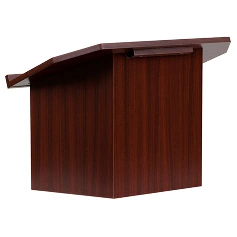 Foldable Tabletop Lectern Mahogany Dcg Stores