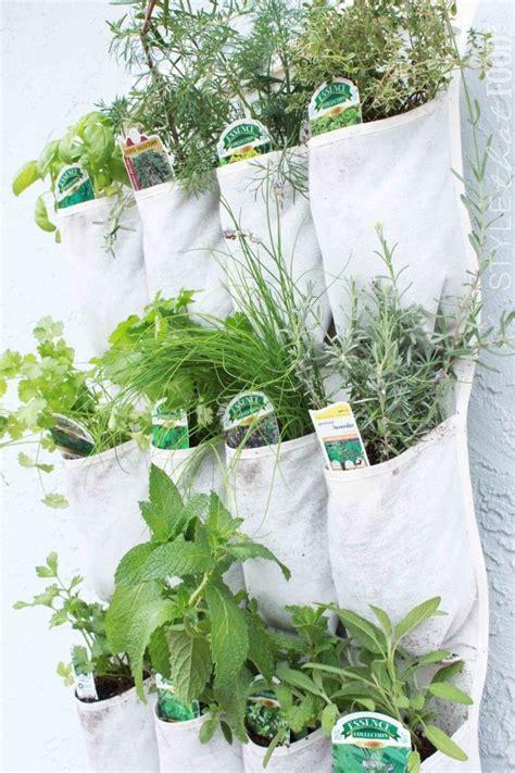 hanging herb garden shoe organizer herb garden up the garden path pinterest