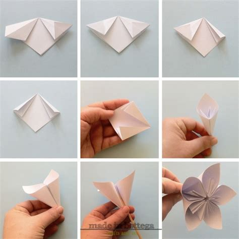 fiori origami tutorial made in bottega creativo diy realizziamo dei