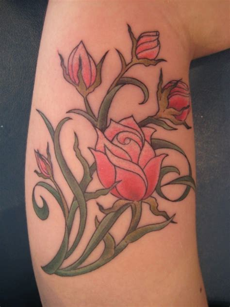 pink roses tattoo meaning inspiring looking pink tattoomagz