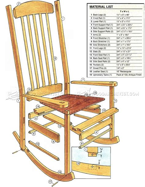 rocking chair plans woodworking craftsman rocking chair plans woodarchivist