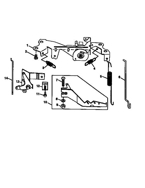 briggs and stratton governor linkage diagrams governor linkage diagram parts list for model