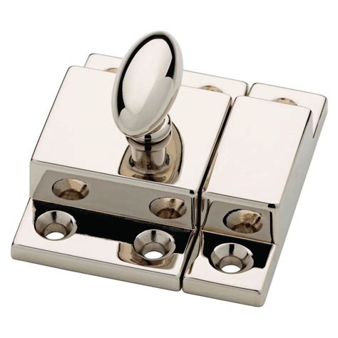 polished nickel cabinet latch martha stewart living 2 in polished nickel matchbox door