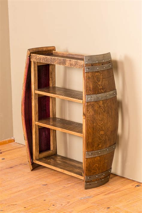 wine barrel end bookshelf wine barrel furniture