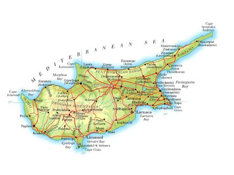 cyprus map maps of cyprus detailed map of cyprus in