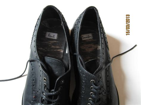 paul smith mens shoes black brogue size 8 42 brand new