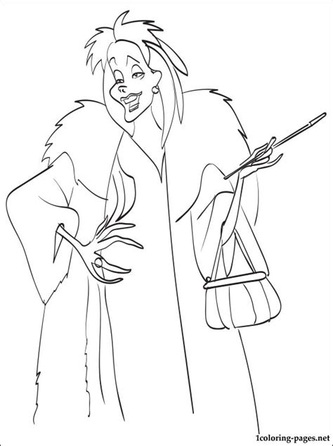 free coloring pages of cruella deville