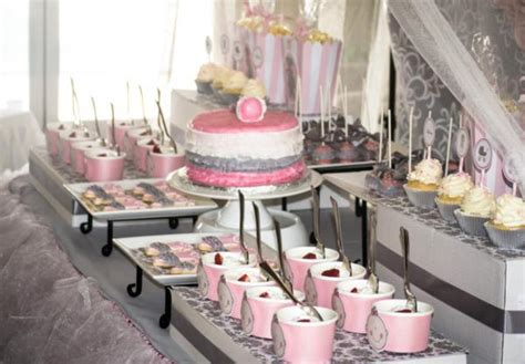 Pink And Gray Baby Shower Ideas by Princess Baby Shower Via Kara S Ideas