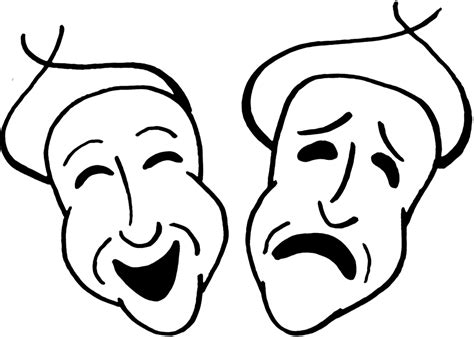 clip comedy comedy and tragedy masks cliparts co