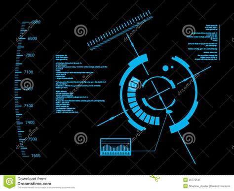 abstract interface pattern futuristic user interface hud royalty free stock