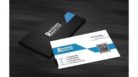 Free Business Card Template With Qr Code by Free Black Blue Corporate Business Card