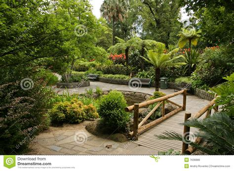 garden landscape stock photo image of walkway garden 7636886