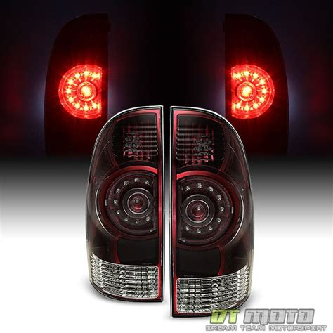 2001 toyota tacoma led tail lights 2005 2015 toyota tacoma red smoked led tail lights brake
