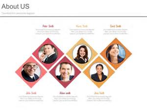 team photo template about us slide for team introduction powerpoint slides