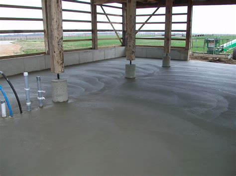 Poured Concrete Floors by Barn Repair Restoration New Prairie Construction