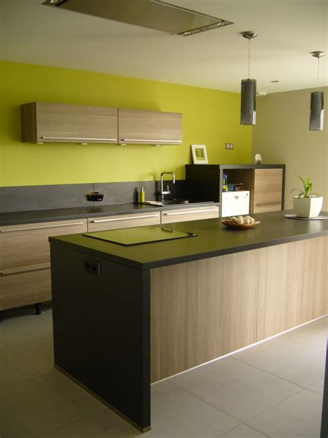cuisine verte et grise cuisine verte et grise decoration cuisine orange et vert