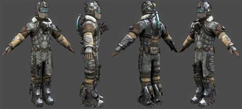 Create Blueprints Online isaac clarke artic suit 3d model obj