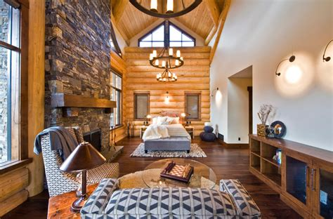 home interior inc okanagan log home rustic bedroom calgary by sticks