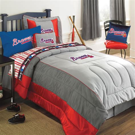 baseball bedding twin atlanta braves mlb authentic team jersey twin bedding set