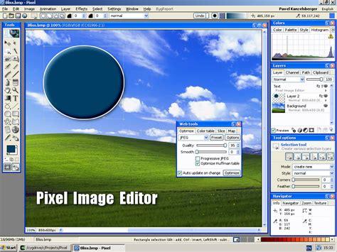 pixel pixel image editor  powerful imaging program