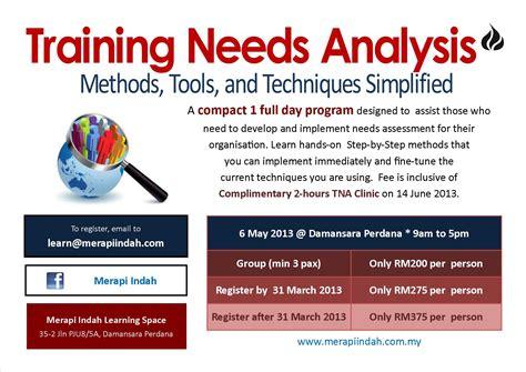 workshop layout planning and analysis training needs analysis workshop at damansara perdana