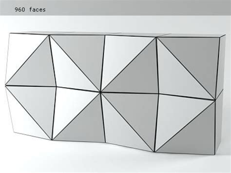 Origami Storage Units - origami storage unit 3d model reflex angelo