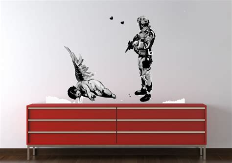 banksy wall stickers uk who killed cupid banksy printed wall sticker