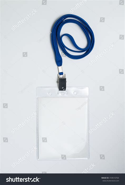 convention name card holder template lanyard badge conference badge blank badge stock photo