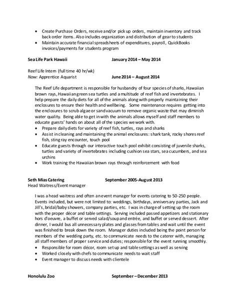 aquarist resume resume ideas
