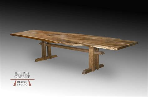 Wood Slab Dining Table Puzzle Wood Slab Dining Table Jeffrey Greene