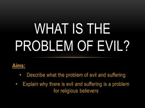 what is the problem lesson 5 the problem of evil
