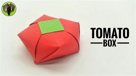 Origami Tomato - tomato gift box diy origami tutorial by paper folds