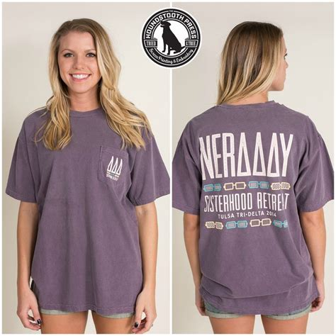 Design Comfort Colors T Shirts by Tulsa Tri Delta Sisterhood Retreat T Shirt Comfort