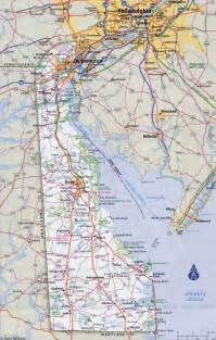 detailed map of cities and towns large detailed roads and highways map of delaware state