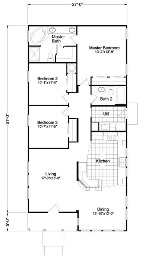 floorplan or floor plan view the sunset bay floor plan for a 1569 sq ft palm harbor manufactured home in redmond oregon