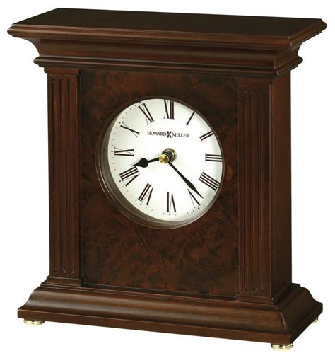 clockway howard miller wooden mantel clock cherry finish chm2348