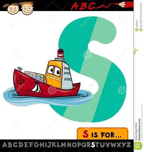 www shipparade com ship alphabet letter s with ship cartoon illustration stock vector