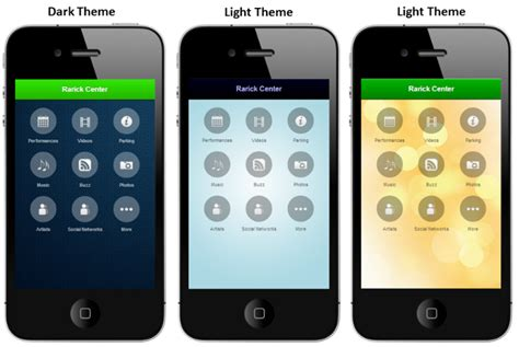 themes new mobile new style options for your mobile app instantencore