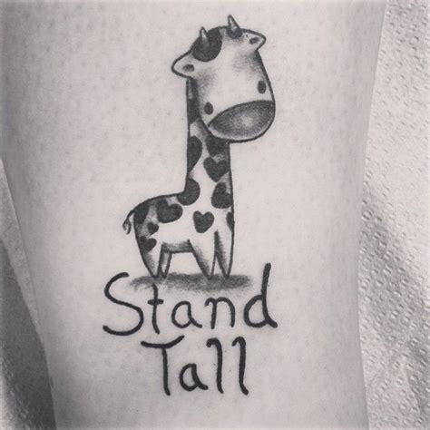 stand tall giraffe tattoo giraffe stand www pixshark images