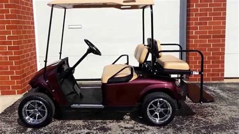 volt ezgo txt golf cart  black cherry metallic body
