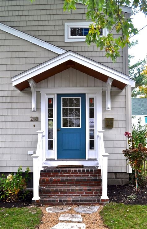 beautiful bright blue front door before and after curb appeal ideas